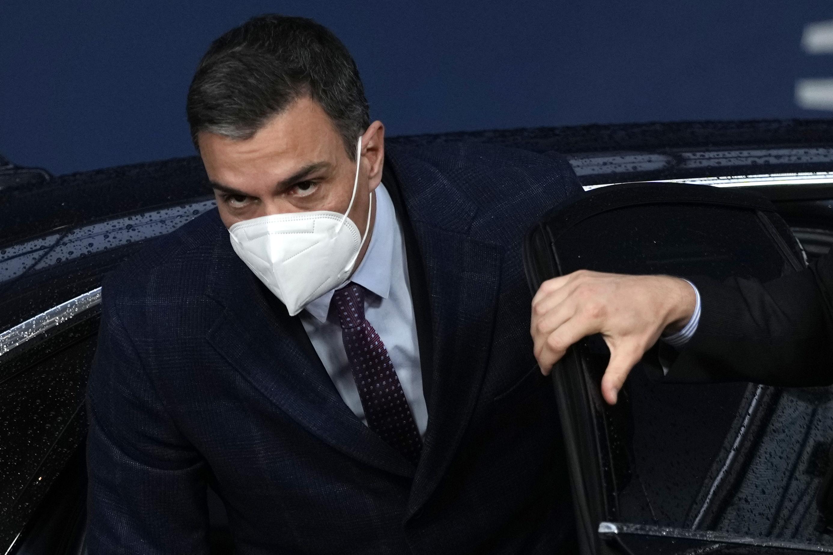 Pedro Sánchez, a su llegada a la cumbre en Bruselas.