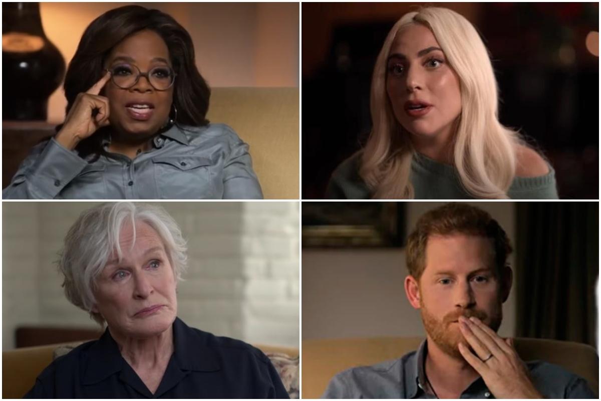 Oprah Winfrey, Lady Gaga, Glenn Close y el príncipe Harry, protagonistas de la serie.