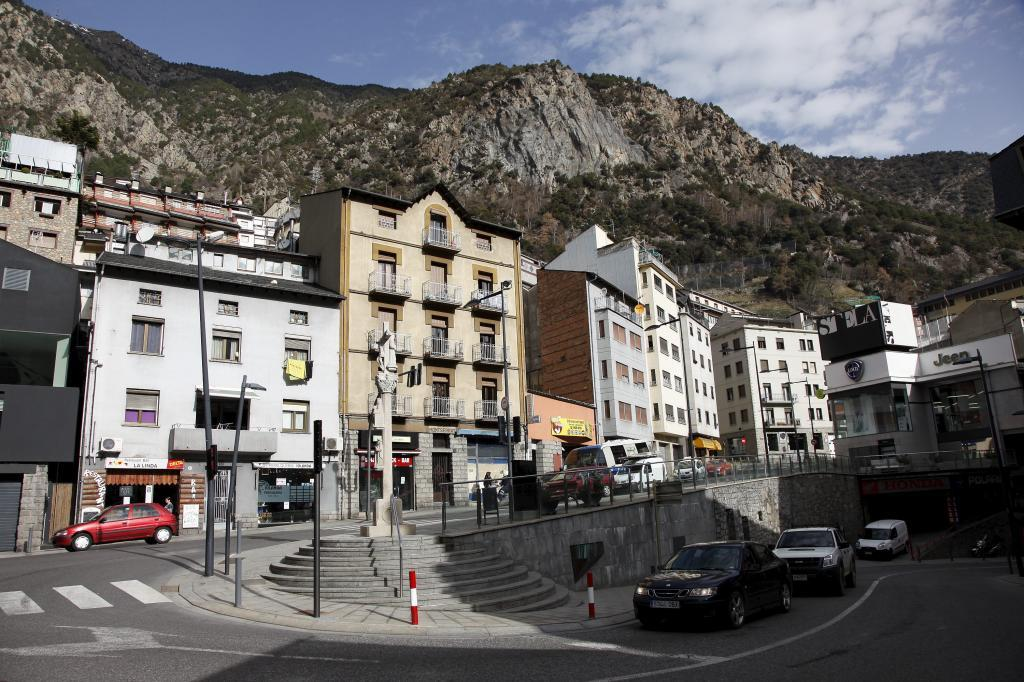 Una calle de Andorra la Vella.