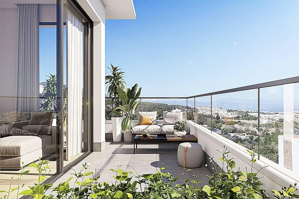 La hacienda de Leala' es un proyecto de ASG Homes en Torremolinos. Sus viviendas destacan por tener amplias terrazas desde las que disfrutar de espectaculares vistas.