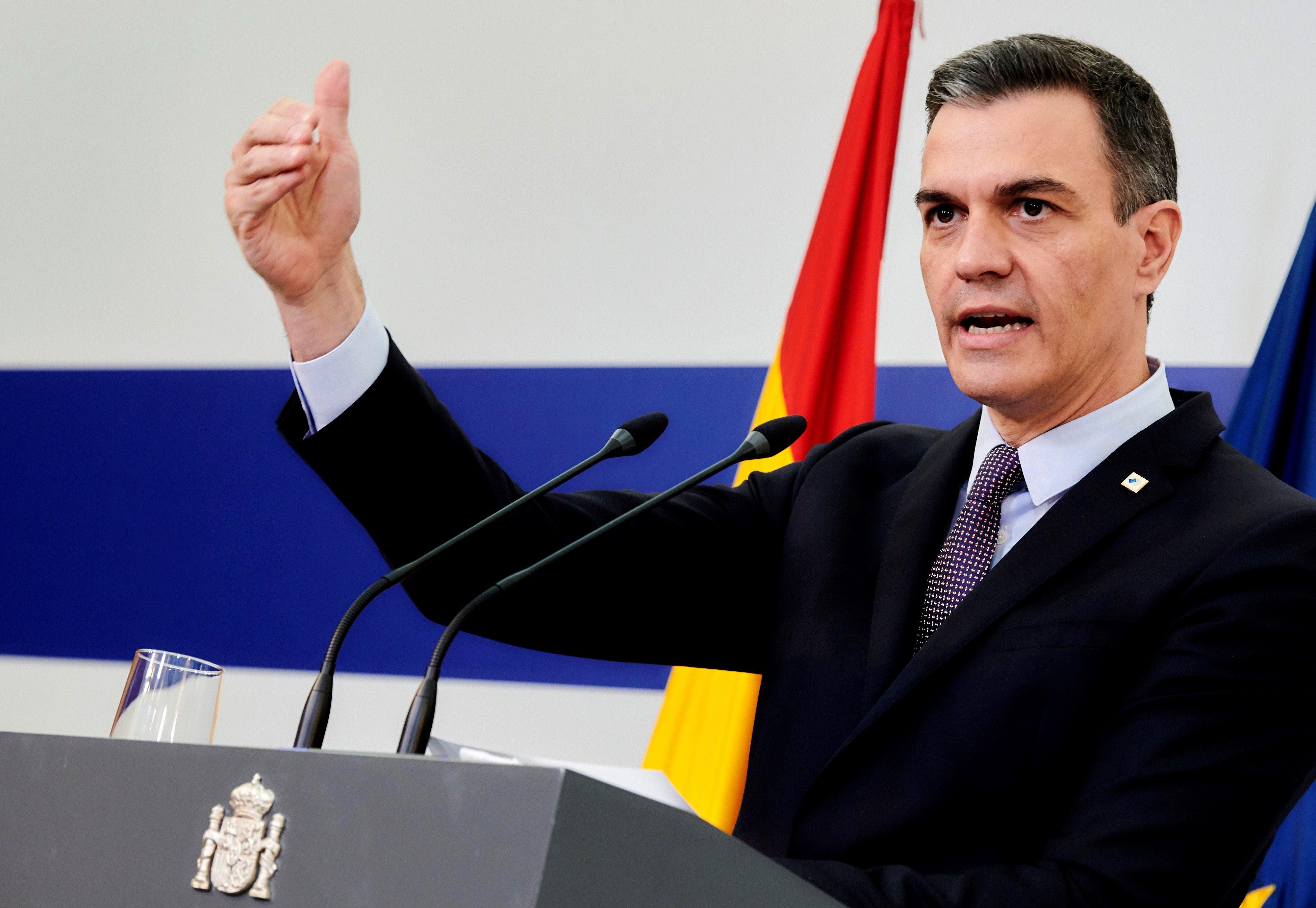Sánchez, durante su comparecencia.