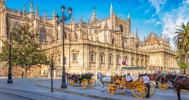 La Plaza de la Catedral de Sevilla.