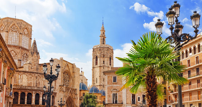 El centro de la ciudad de Valencia.