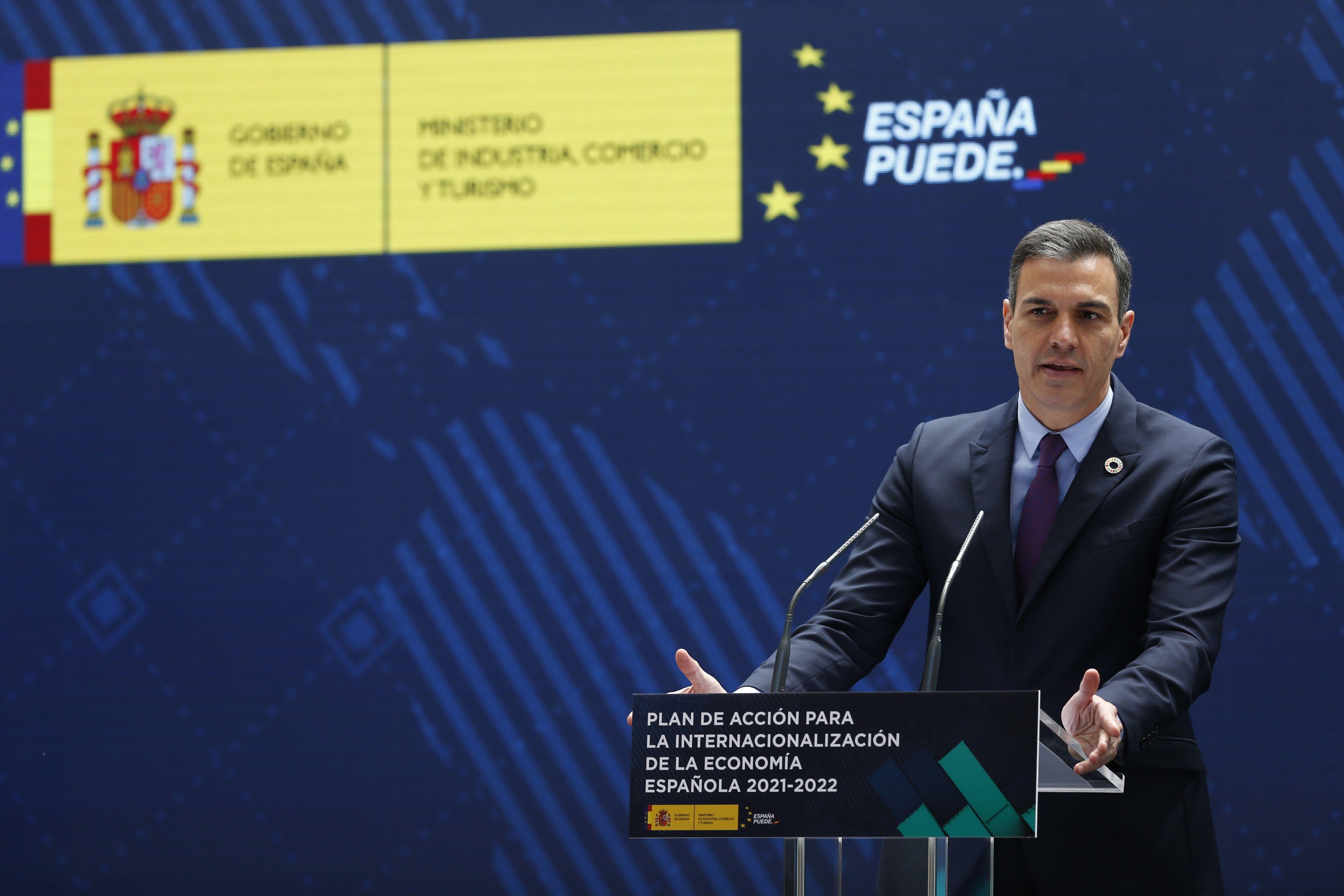 Sánchez, durante su intervención.