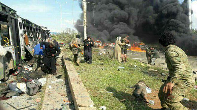 Ataque a un autobús en Siria