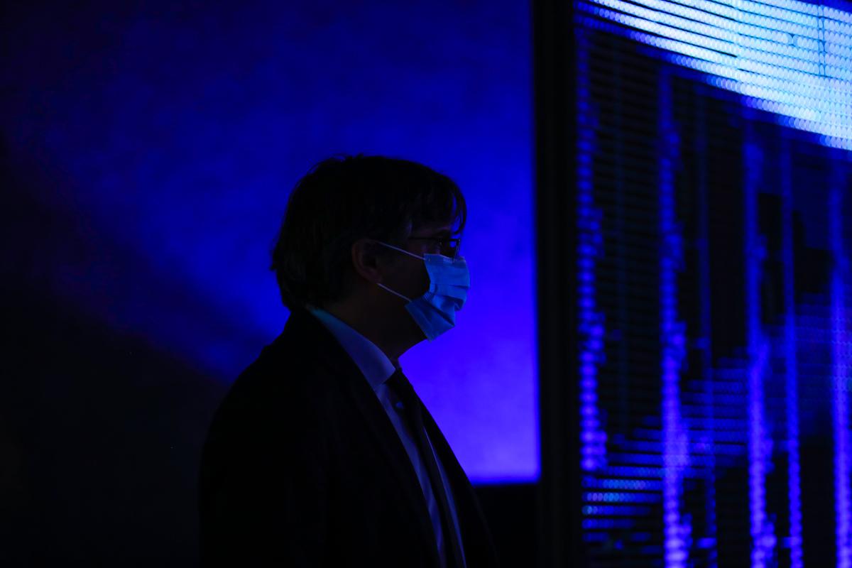 Carles Puigdemont, en el Parlamento Europeo.