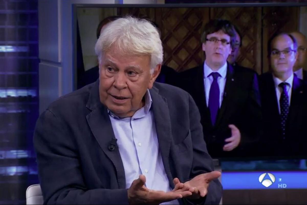 Felipe González, en 'El Hormiguero', este miércoles.