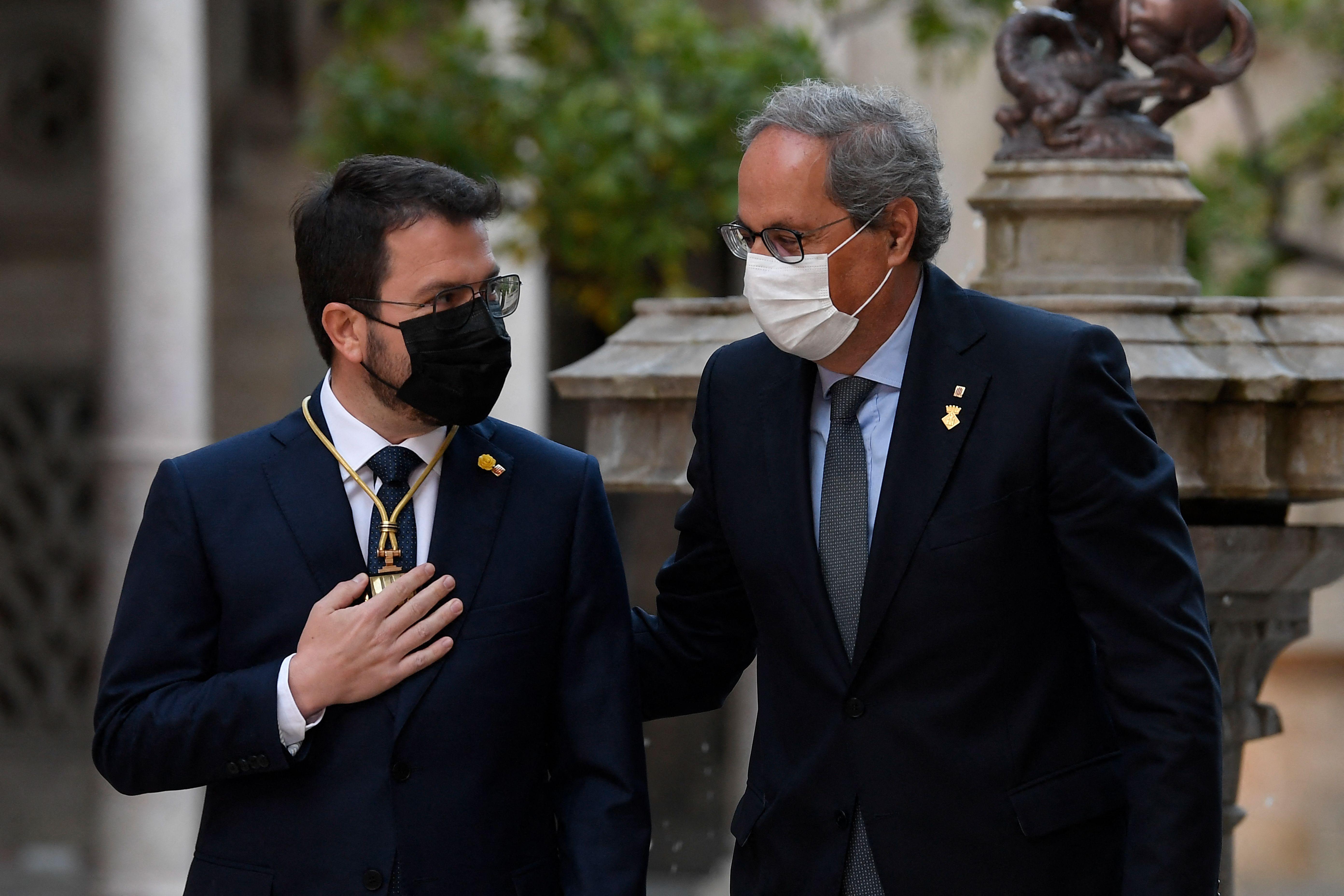 Torra en la toma de posesión de Aragonès