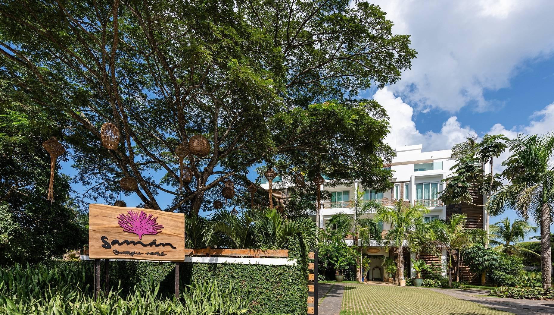 Fachada del Samana Boutique Hotel, en República Dominicana.