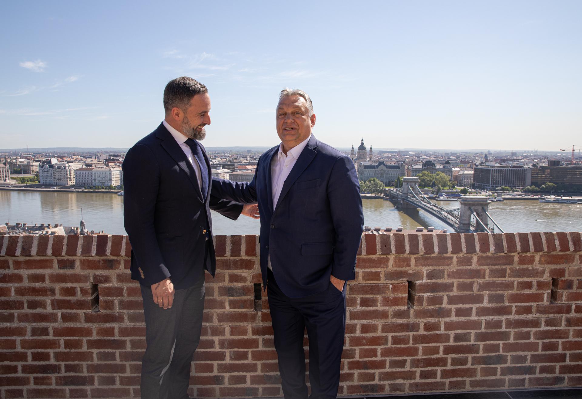 Santiago Abascal y Viktor Orban, en Budapest.
