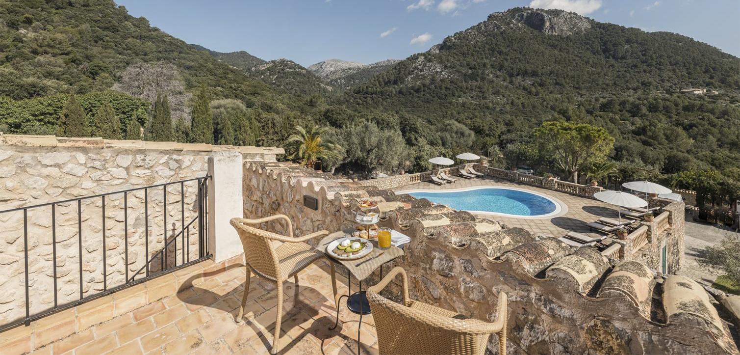 El hotel boutique se encuentra en Binibona, al norte de Mallorca.