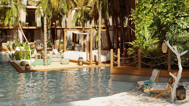 La piscina del hotel Nativo.