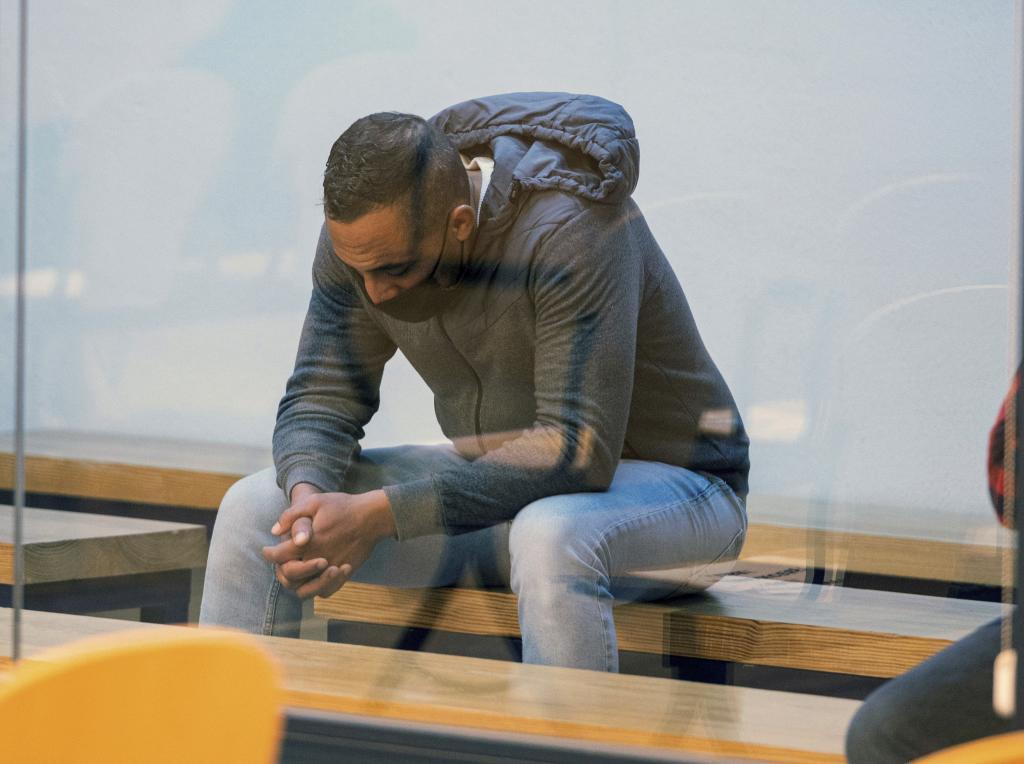 El acusado Driss Oukabir, durante el juicio.