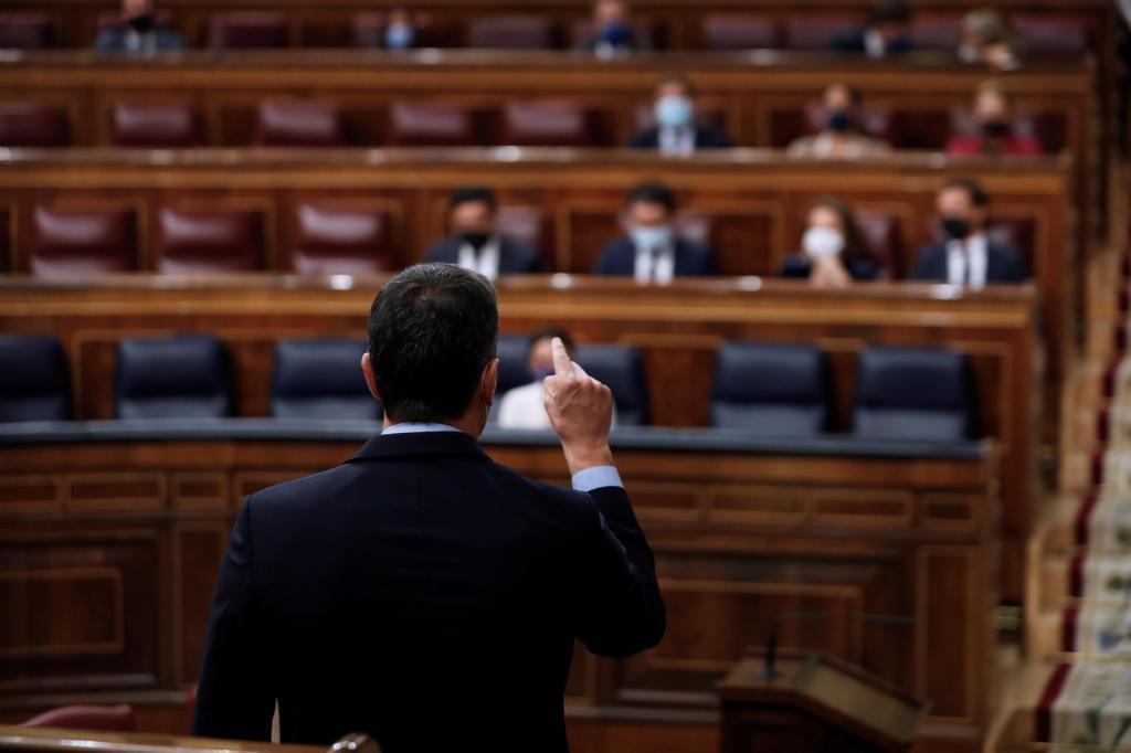Pedro Sánchez, el miércoles en el Congreso defendiendo el posible indulto a los golpistas del 1-O.