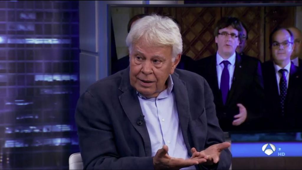 Felipe González, el pasado miércoles, en 'El Hormiguero', de Antena 3.