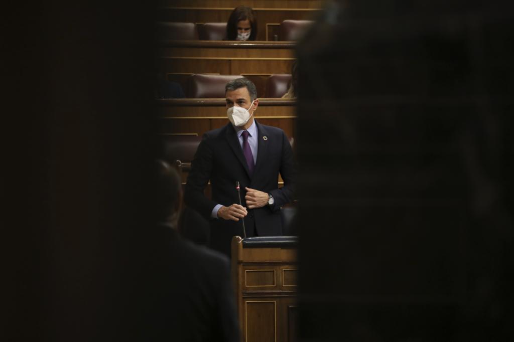 Pedro Sánchez, el miércoles, en el Congreso.
