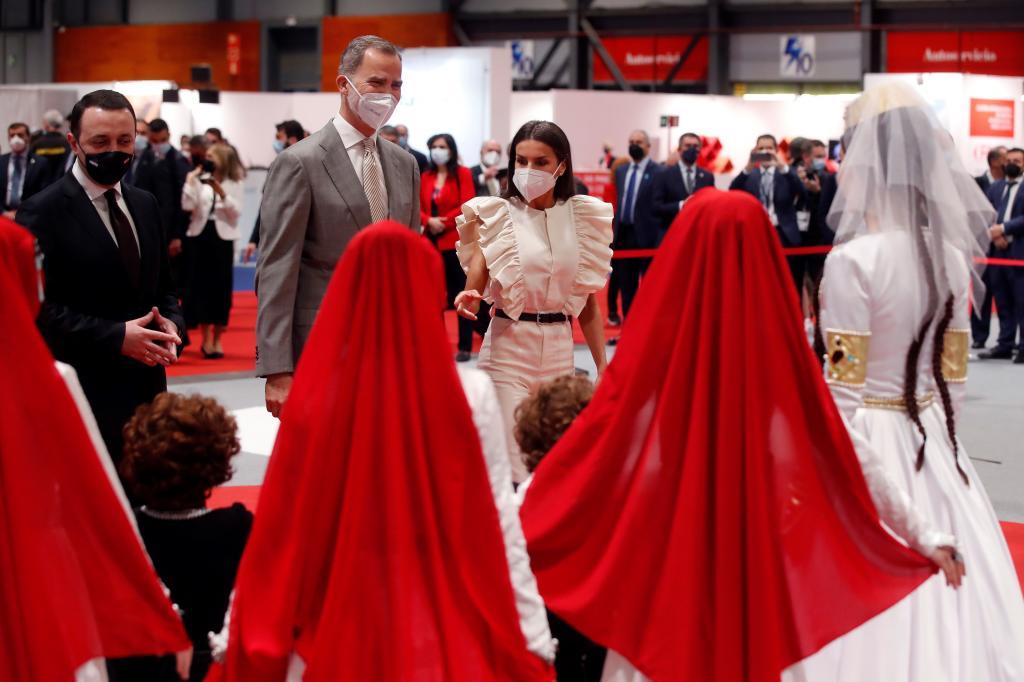 Los Reyes don Felipe y soña Letizia, la pasada semana, en Fitur.