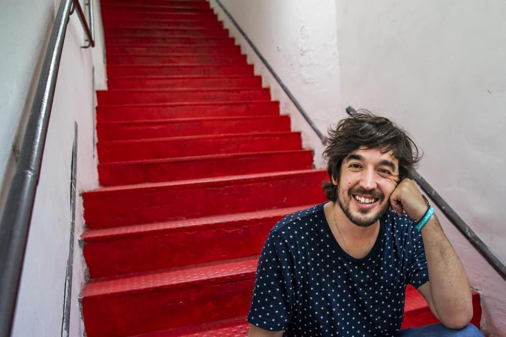 Sergio Lope en el Café Berlín
