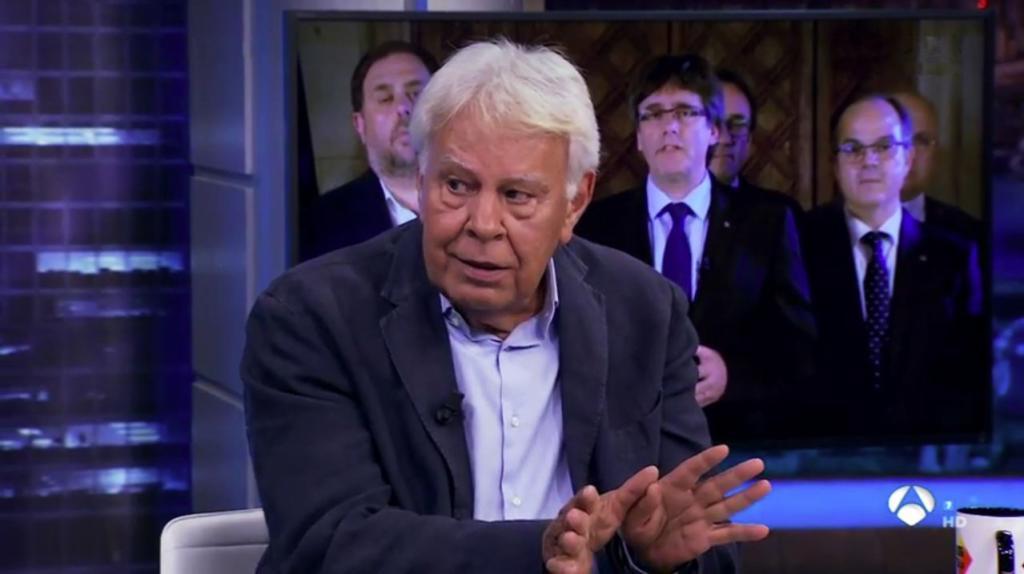 Felipe González, el pasado miércoles, en 'El Hormiguero'.