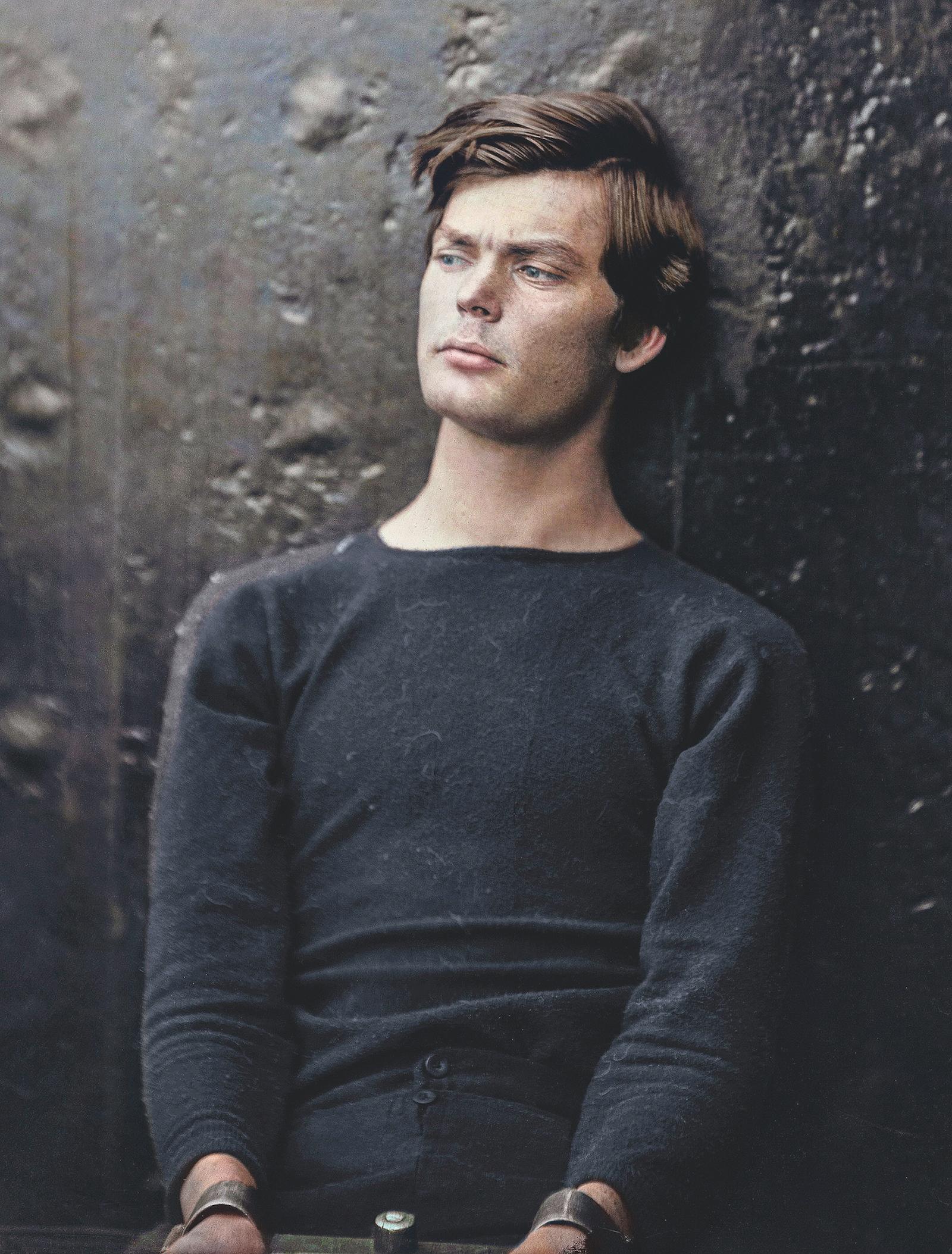 El asesino de Lincoln, antes de su ejecución.
