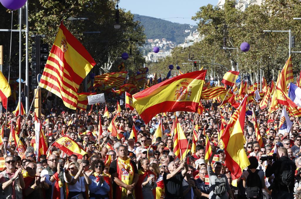 Manifestación en Barcelona en octubre de 2017.