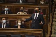 Pablo Casado, en una sesión de control en el Congreso.