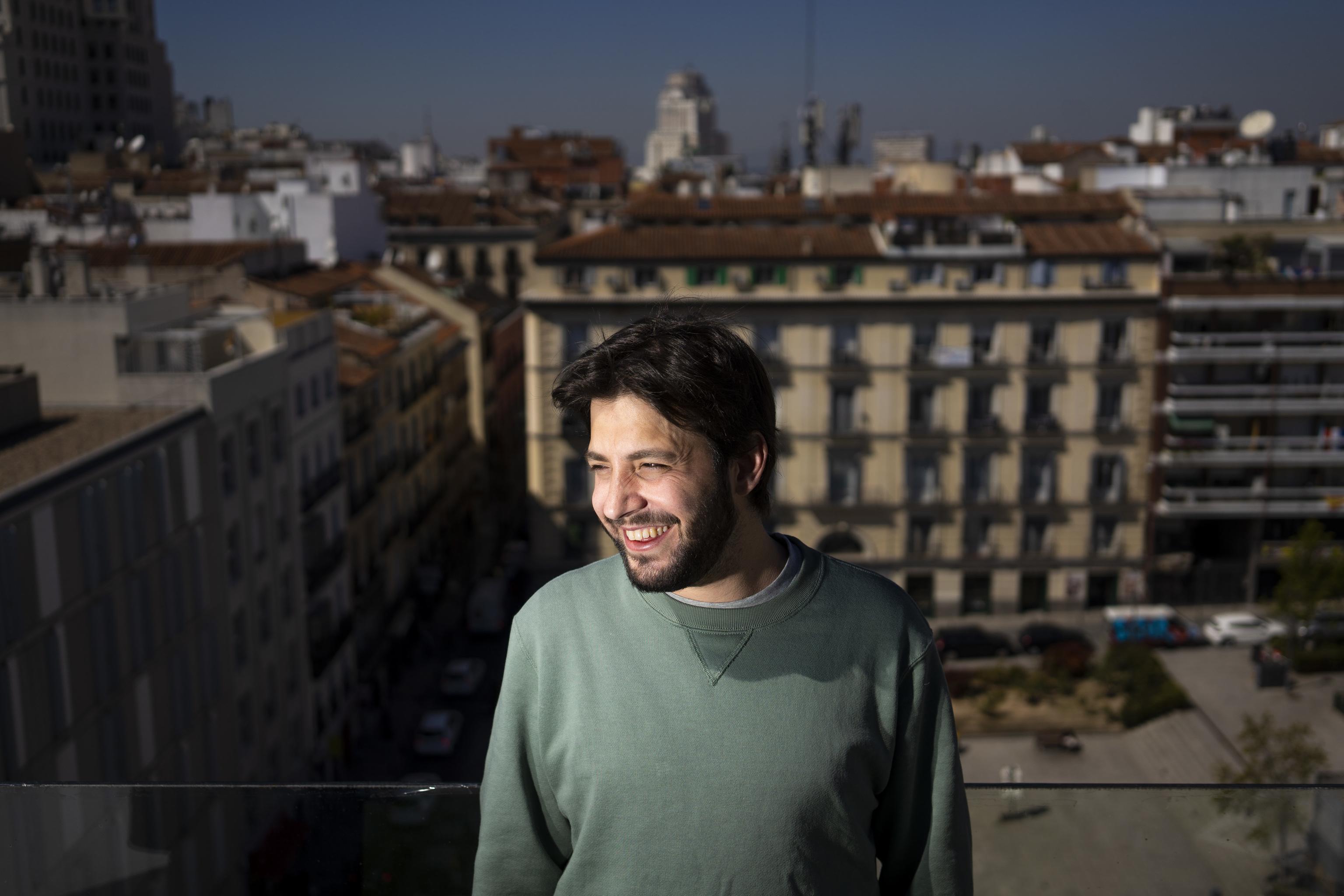 El artista Salvador Sobral, en Madrid.