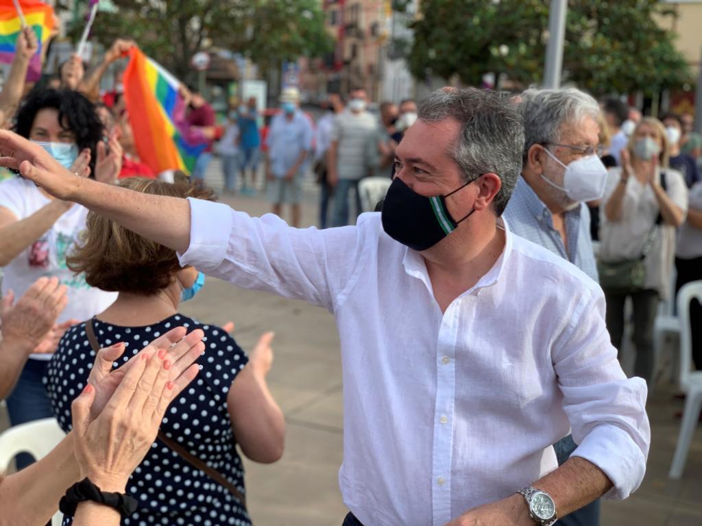 Juan Espadas, durante el acto celebrado este domingo en Dos Hermanas.
