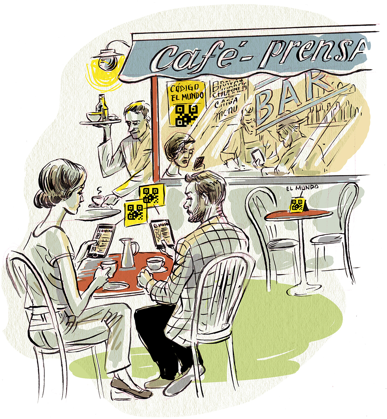 QR Prensa o cómo volver a leer tu periódico favorito en el bar