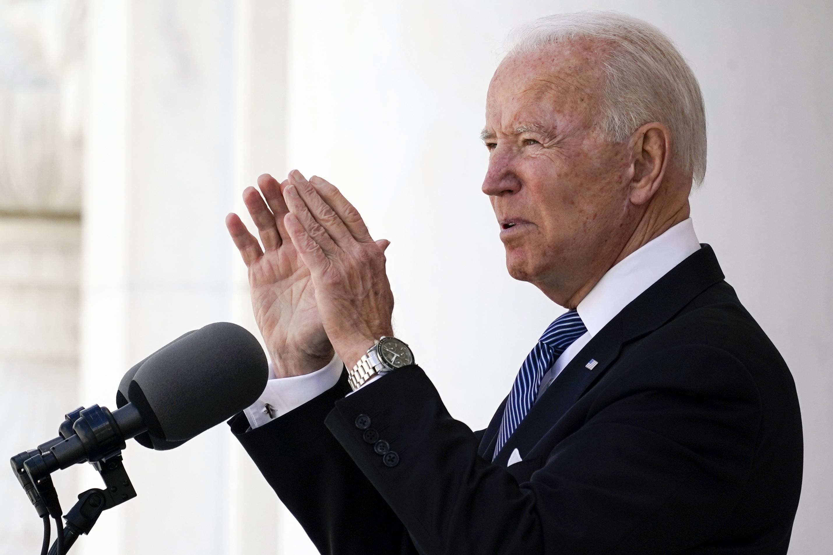 رئیس جمهور ایالات متحده جو بایدن روز دوشنبه.