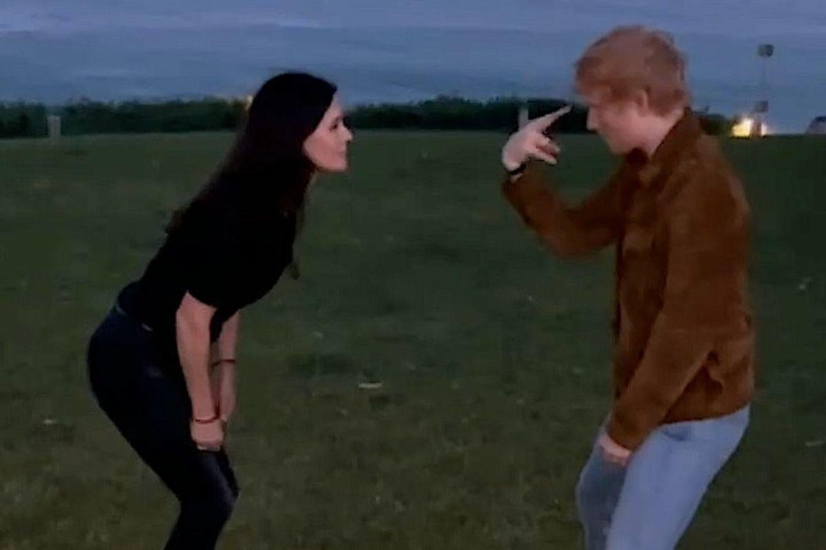 El baile de Courteney Cox y Ed Sheeran