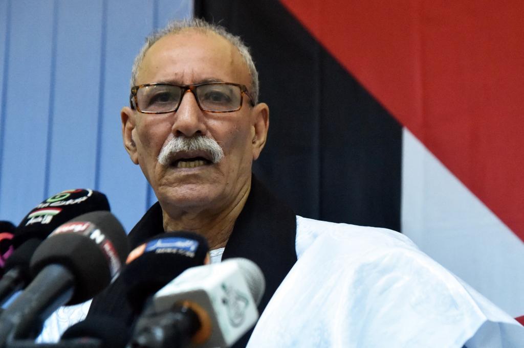 El líder del Polisario, Brahim Ghali, en 2017.