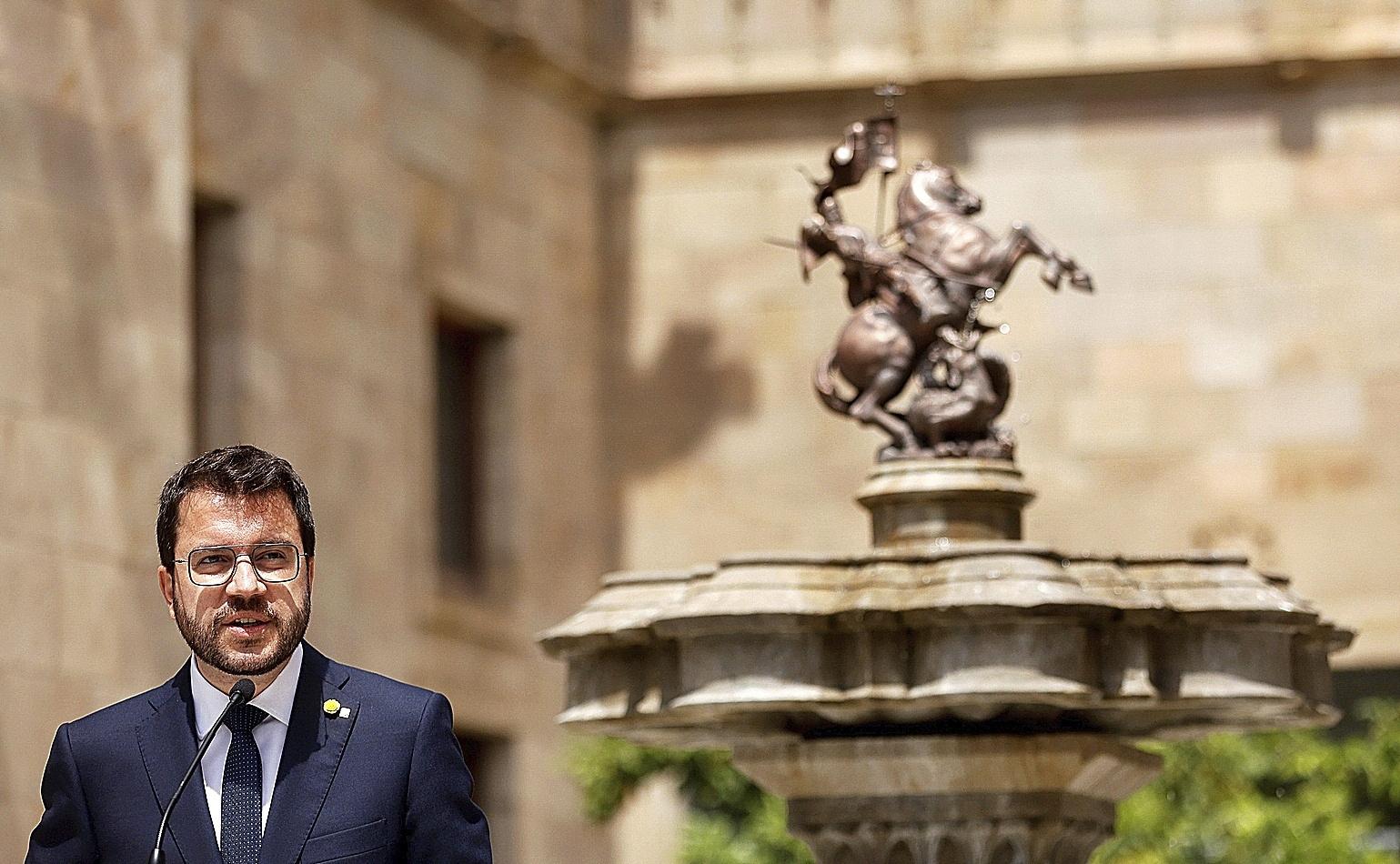 El presidente del Govern de Cataluña, Pere Aragonès.
