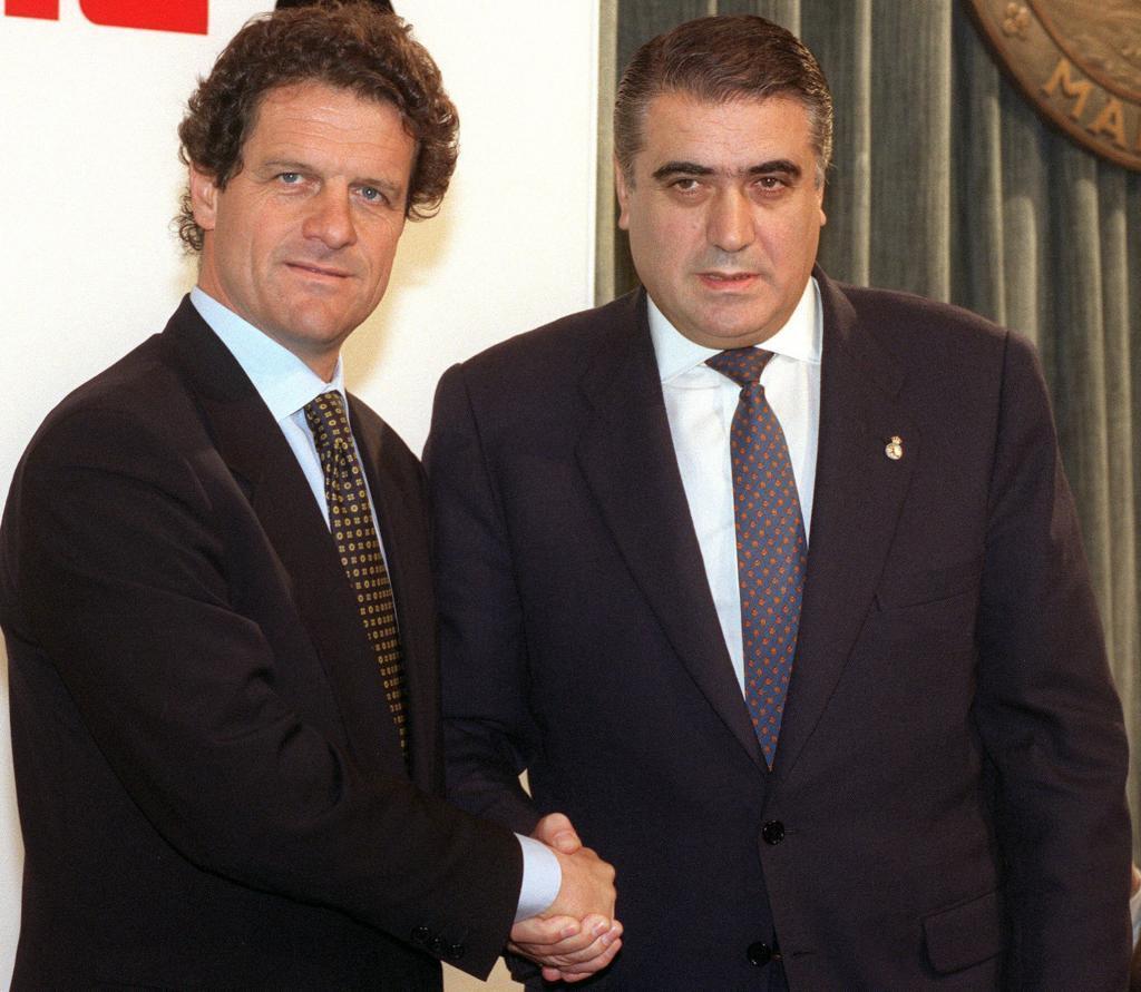 Fabio Capello y Lorenzo Sanz, en una imagen de 1996.