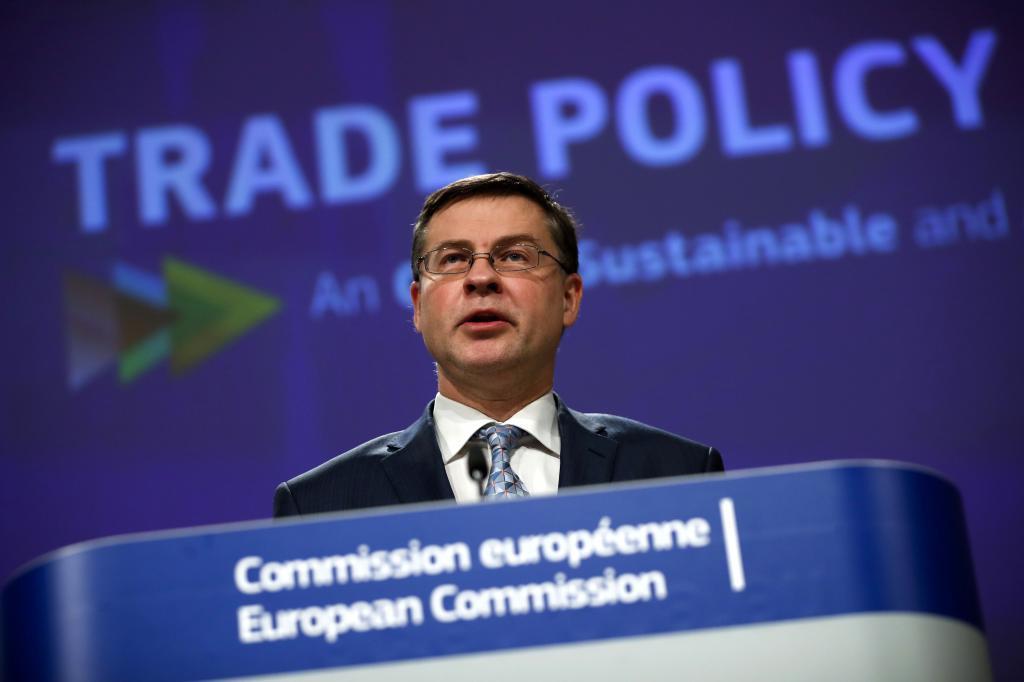 El vicepresidente de la CE, Valdis Dombrovskis.