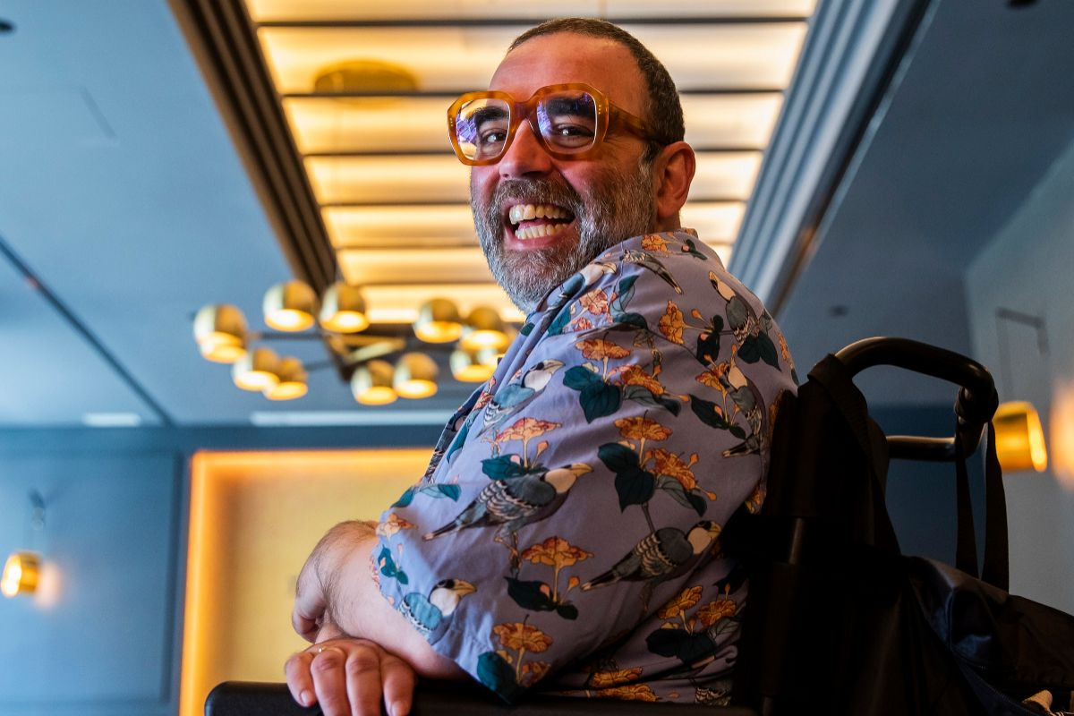 Bob Pop, en un céntrico hotel madrileño. Foto: Bernardo Díaz.