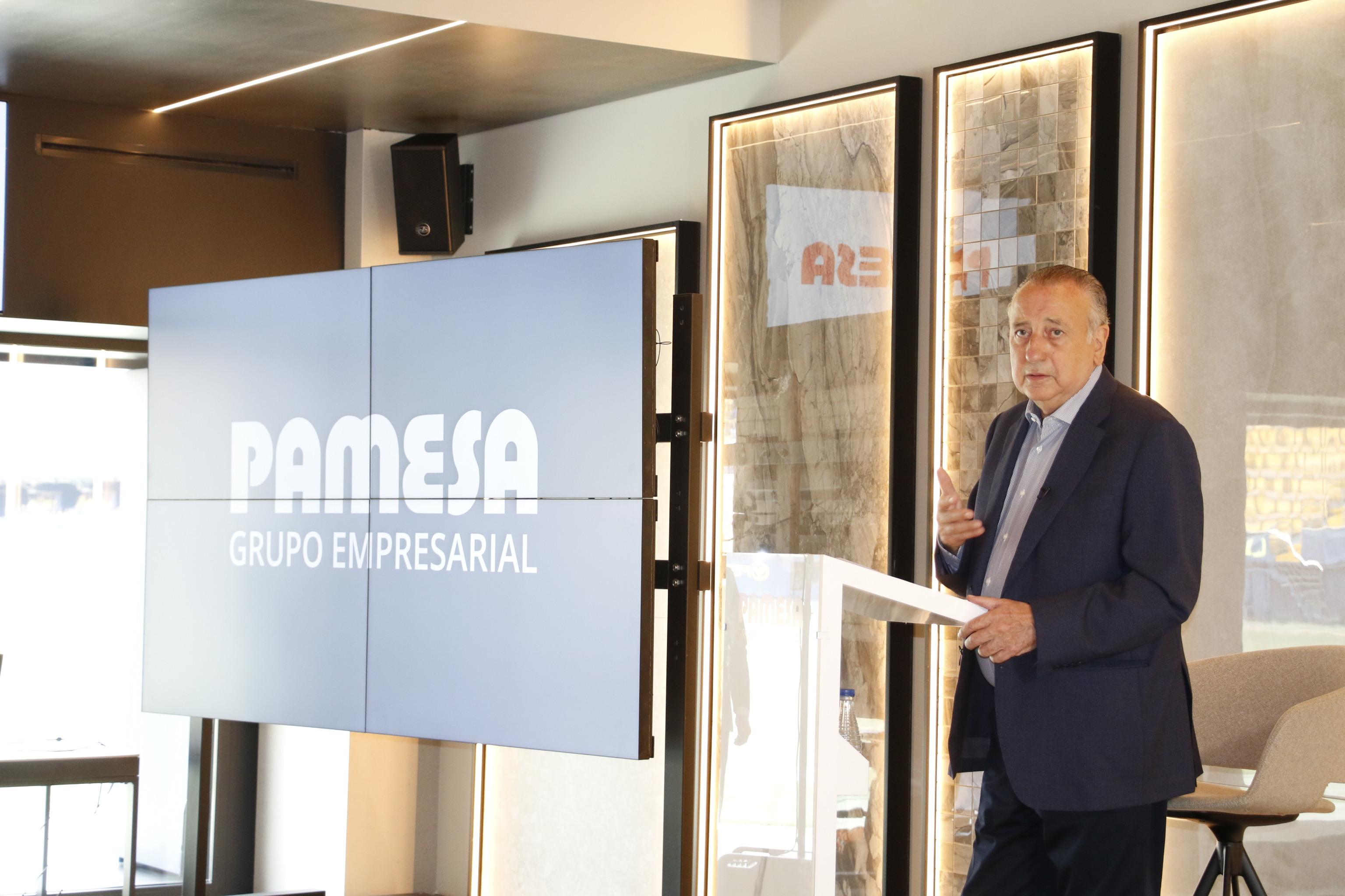 Fernando Roig, presidente de Grupo Pamesa, ha presentado los resultados de 2020 en el Estadio de la Cerámica.