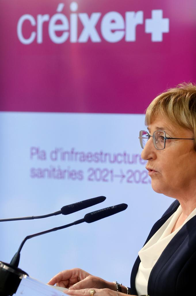 La consellera de Sanidad, Ana Barceló, en la presentación del plan de infraestructuras sanitarias.