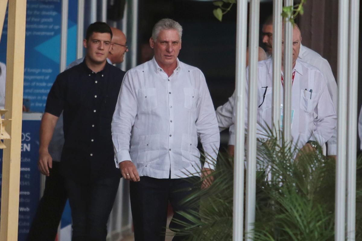 El presidente cubano, Miguel Diaz-Canel.