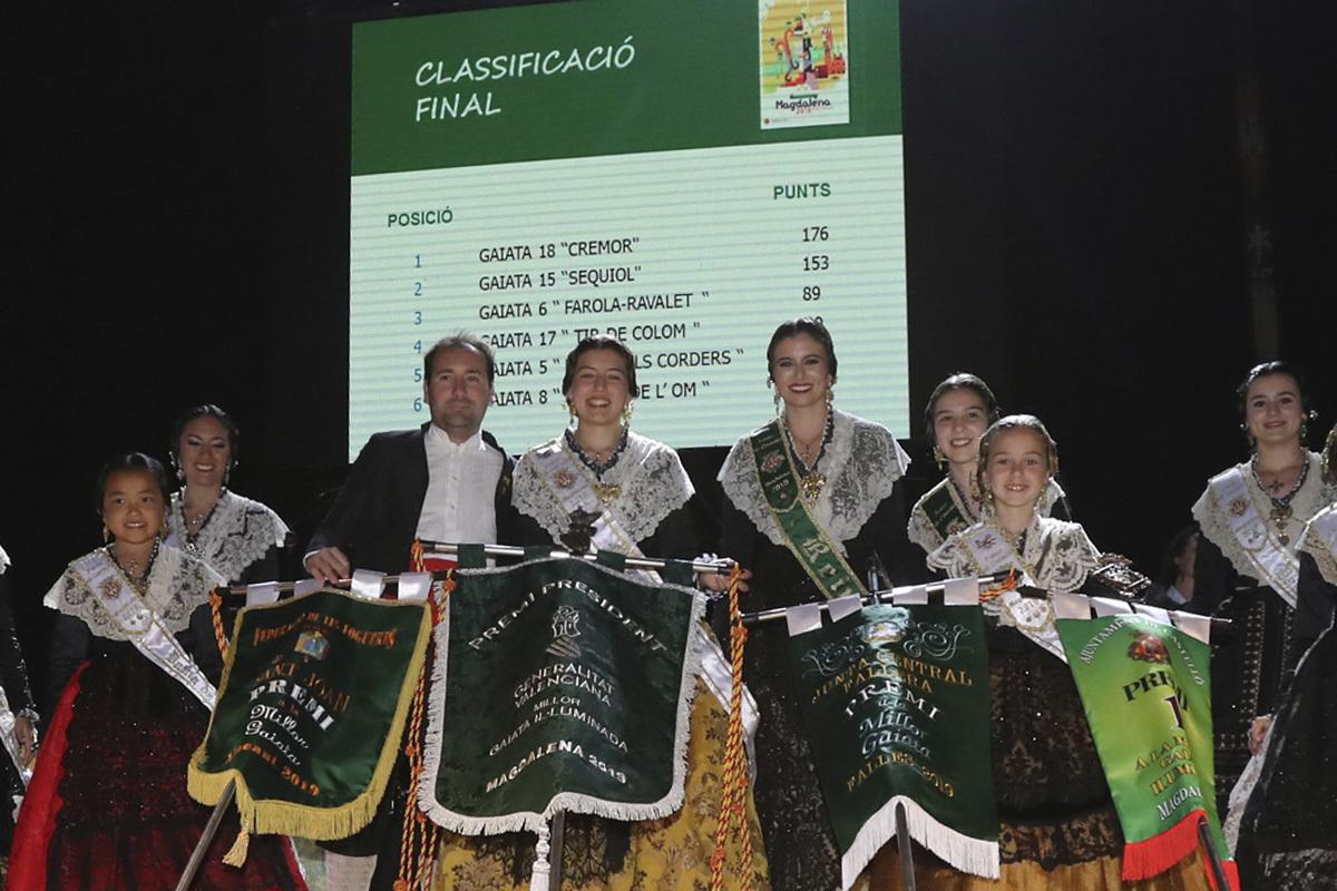 La entrega de premios de 'llibret' y gaiata tienen lugar el martes de Magdalena.