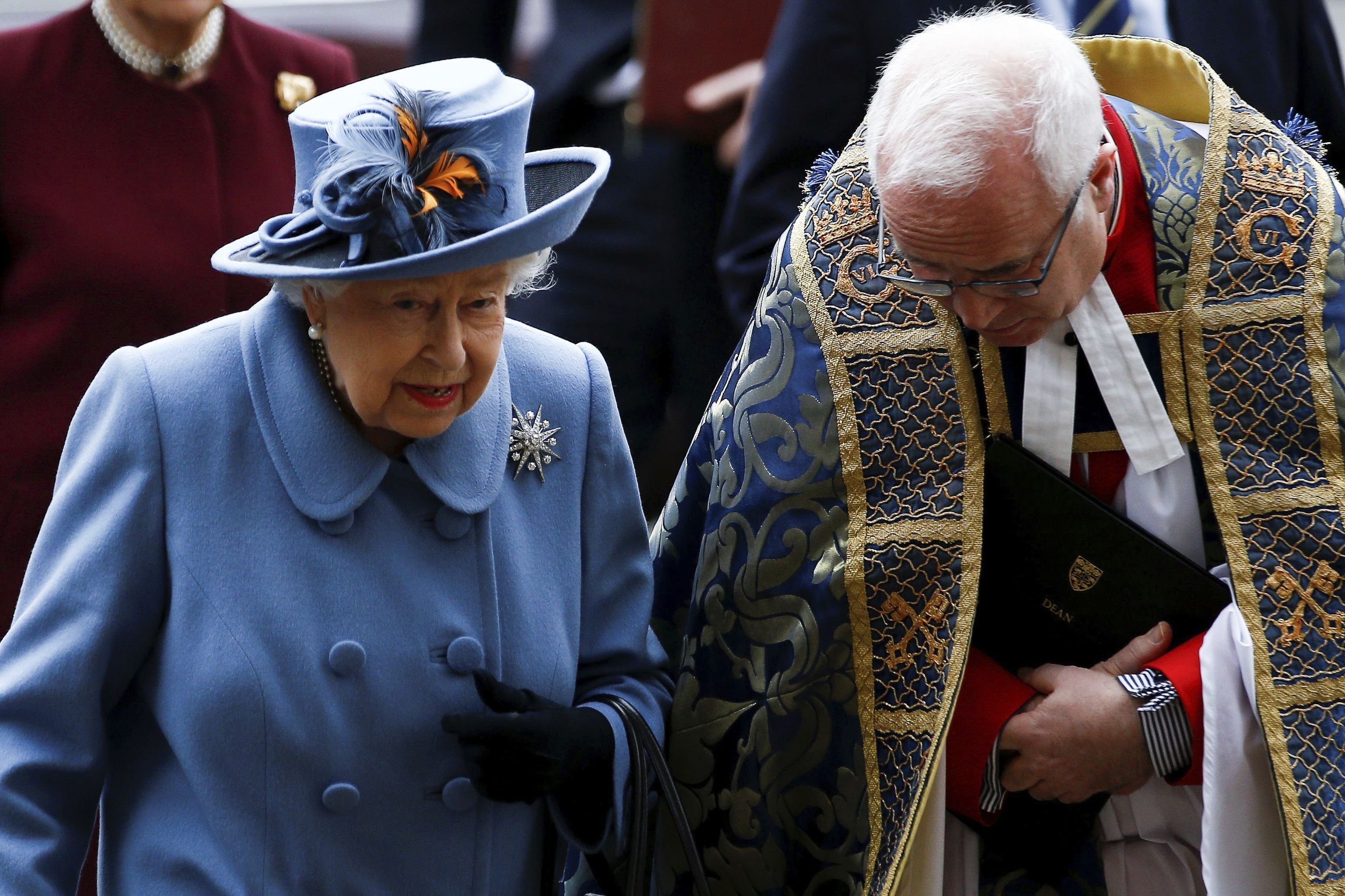 La reina Isabel II en la abadía de Westminster, el pasado marzo.
