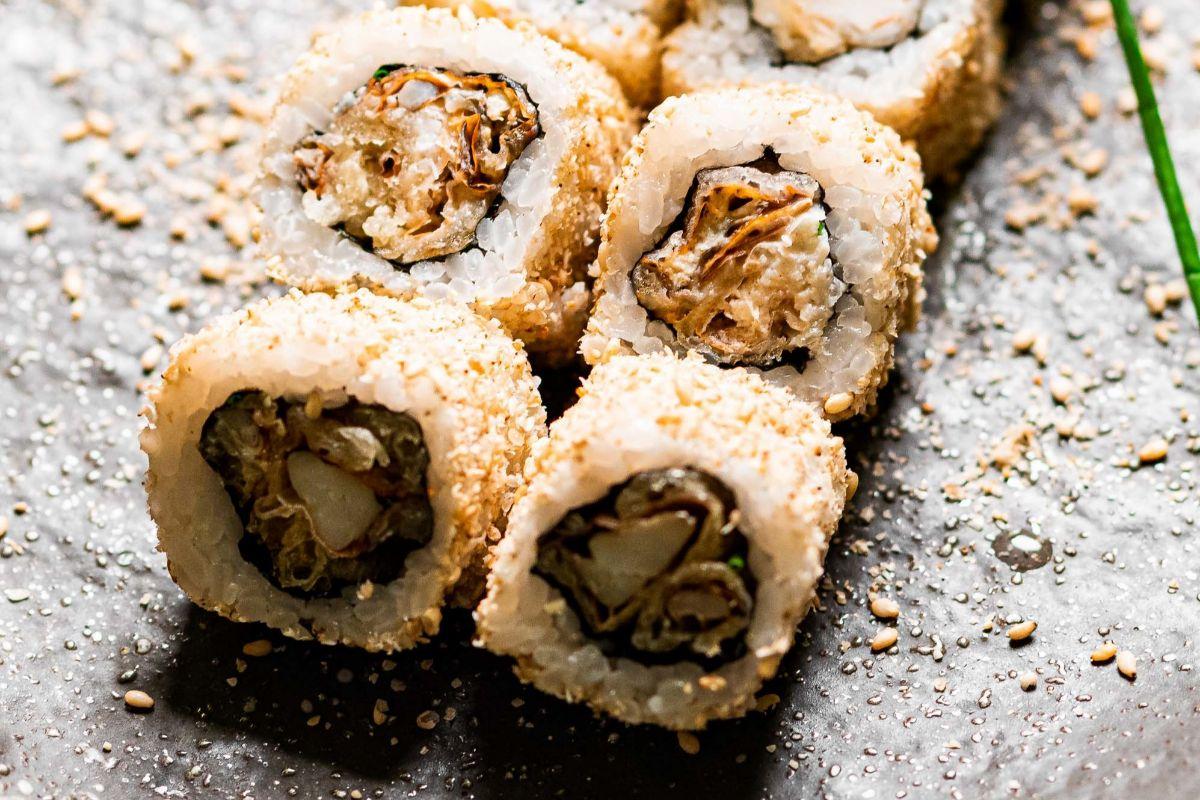 Soft shell crab roll de Tottori.