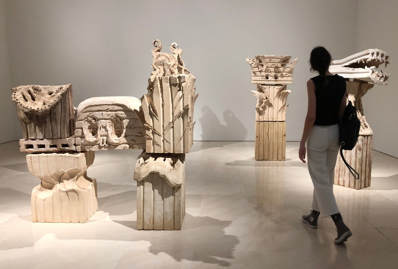 Una de las salas de la exposición de Barceló en el Museo Picasso de Málaga.
