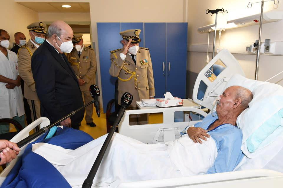 El presidente argelino visita el martes a Brahim Ghali en un hospital de Argel.