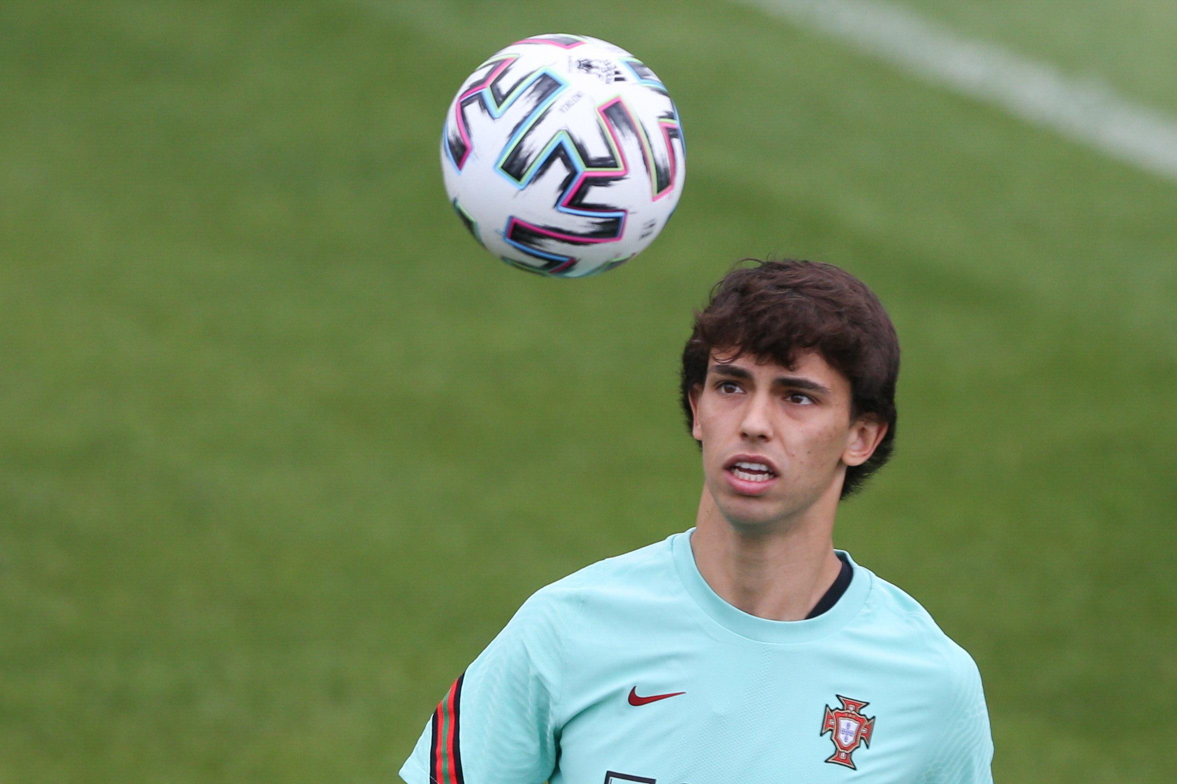 Joao Félix, durante la concentración con Portugal.