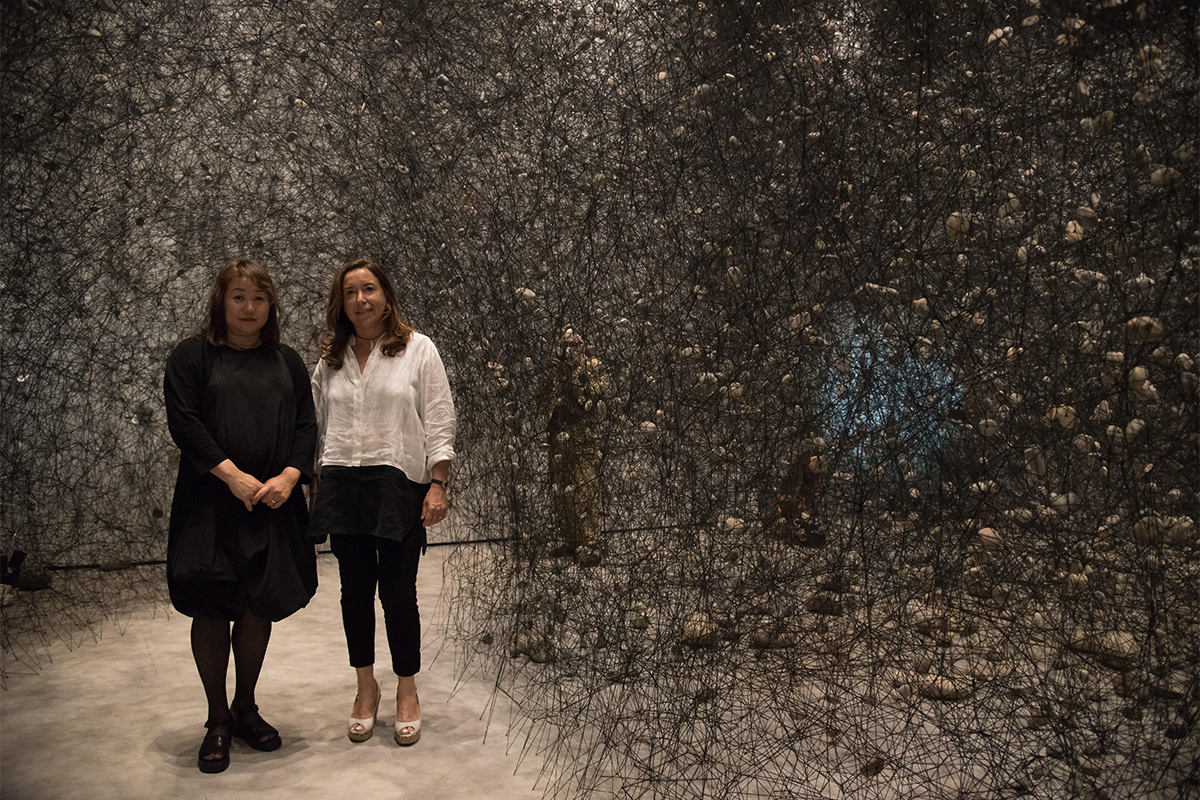 Chiharu Shiota y Ana Vallés.