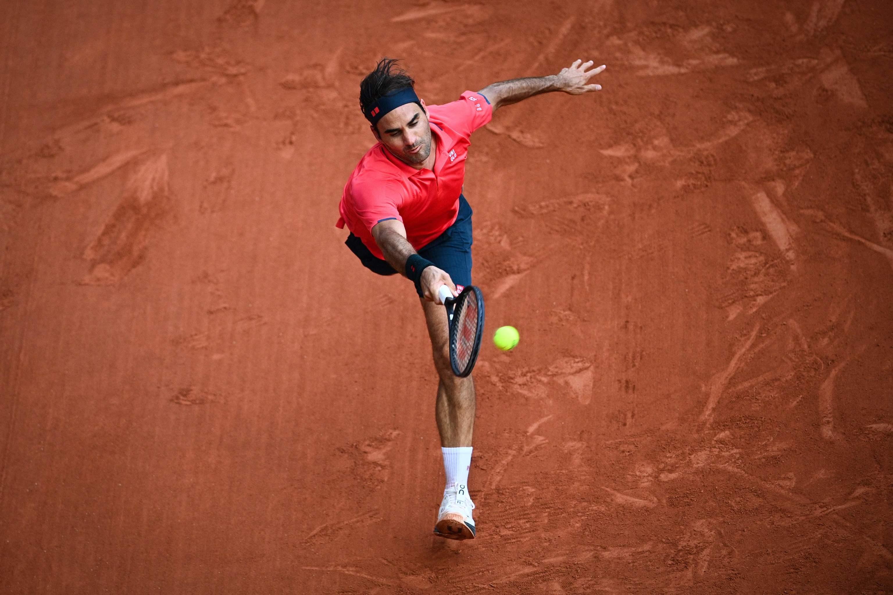 Federer, en su partido frente a Cilic.