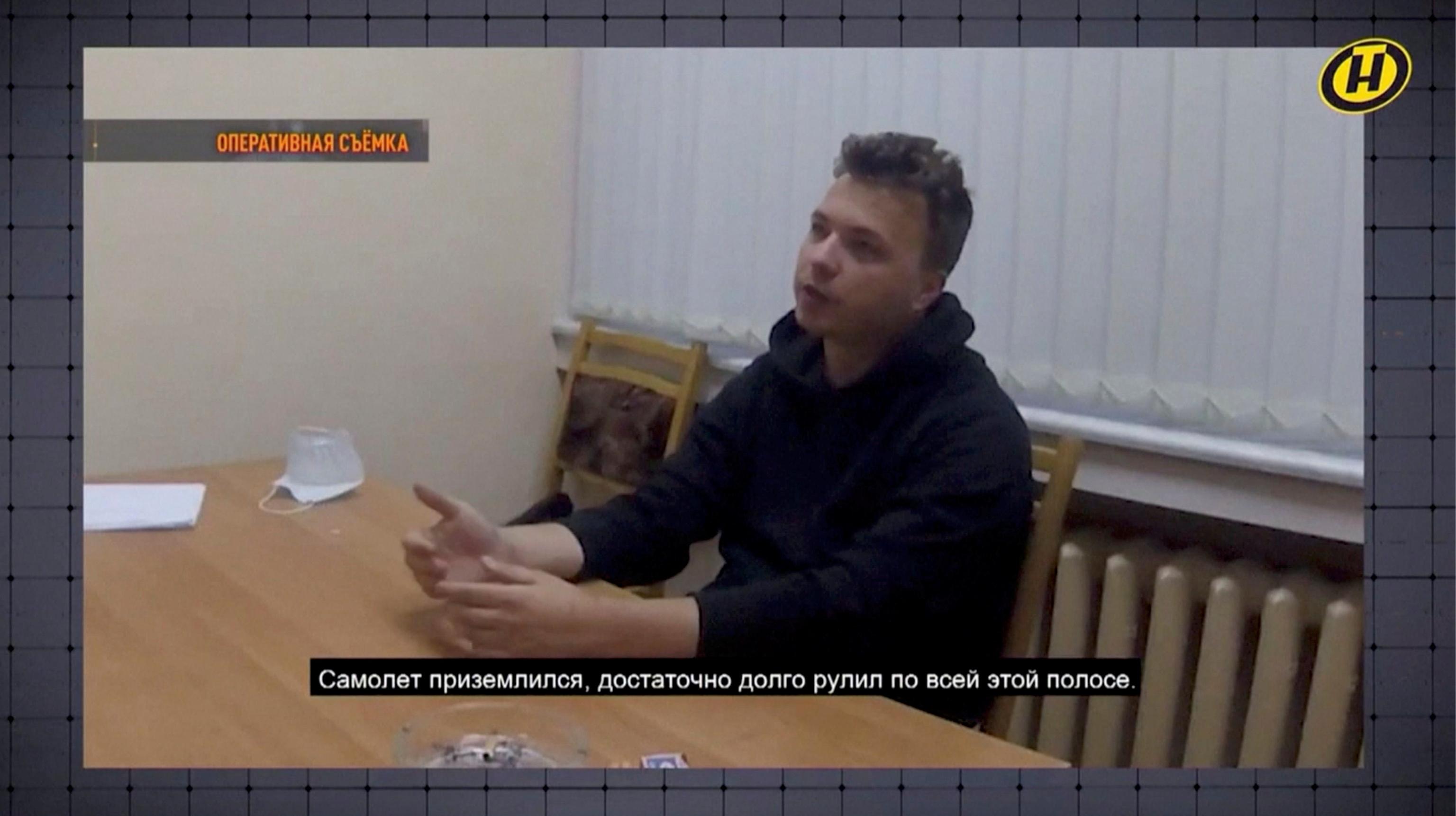 El periodista detenido, Roman Protasevich.