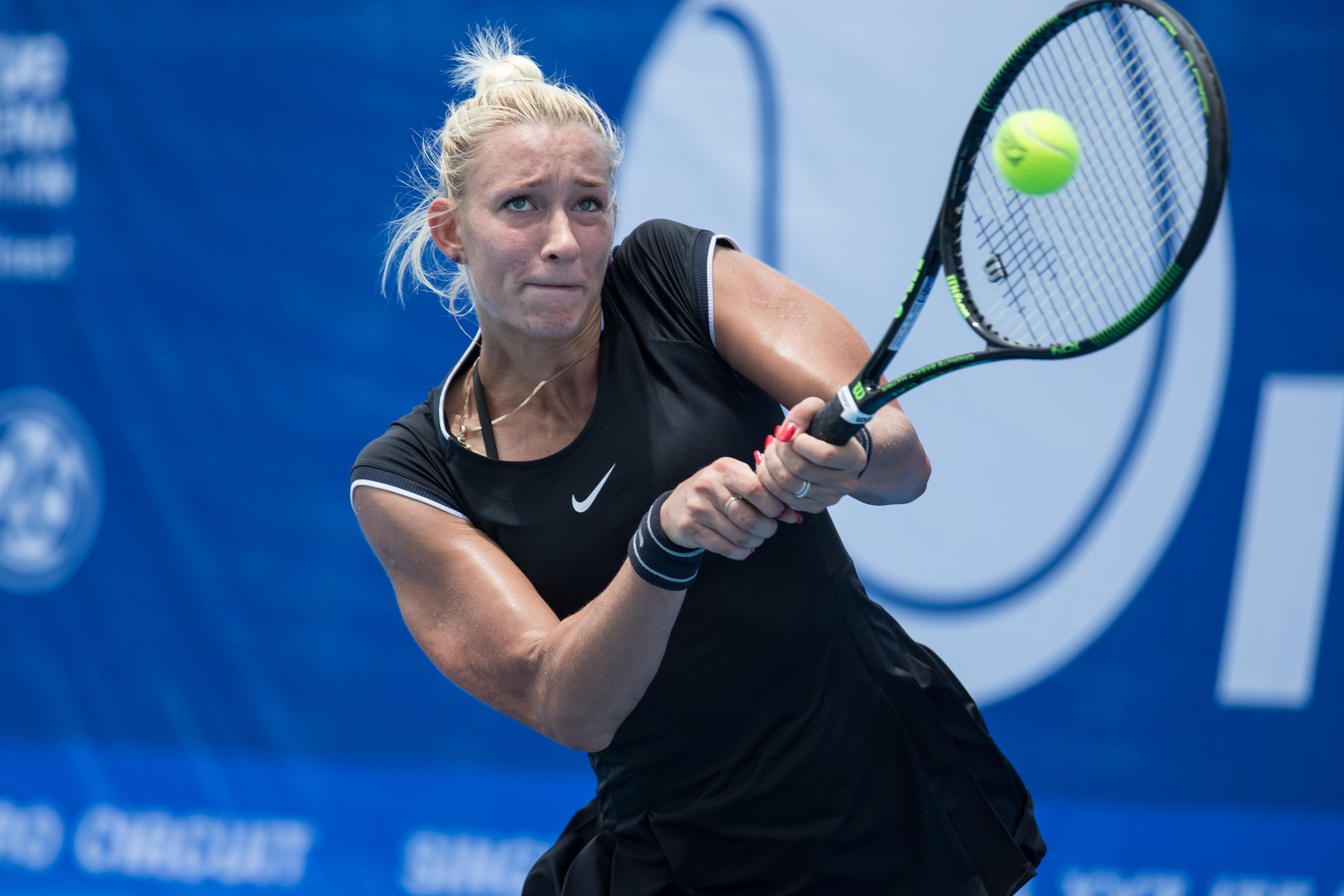 La tenista rusa Yana Sizikova, en un partido.