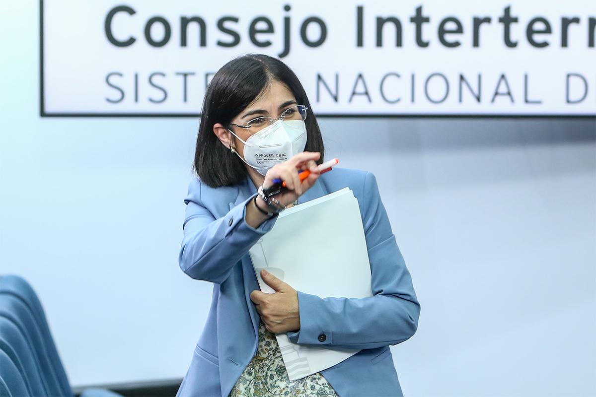 Carolina Darias, en rueda de prensa tras una reunión del Consejo Interterritorial de Salud.